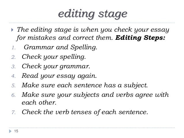 writing an academic essay 15 editing