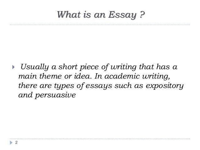 Writing a academic essay