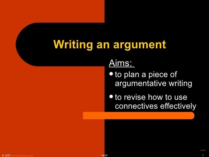 writing an argument