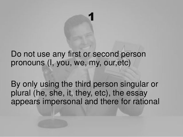 argumentative essay first person or third