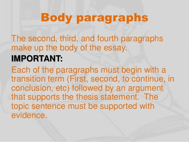 starting a body paragraph in an essay Transition words what transitions also show the relationship within a paragraph (or to start with, first.