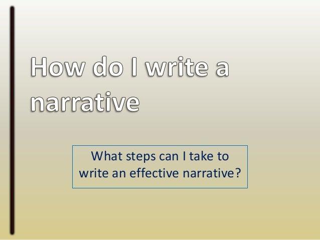 steps writing narrative essay