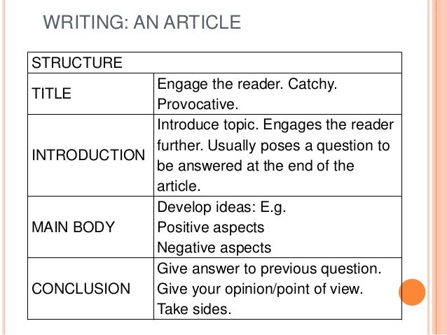 writing an article 1 backer