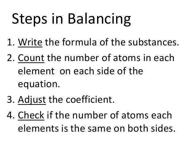 Writing and balancing chemical reactions