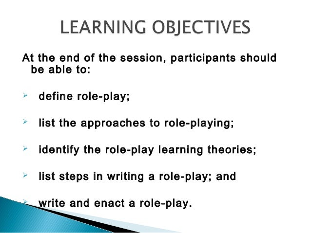 Writing and developing role plays
