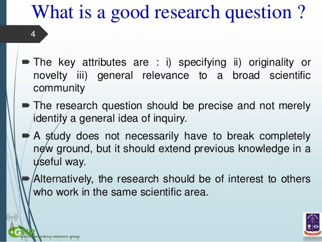 characteristics of a good research topic