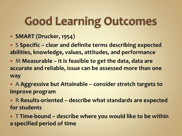 learning outcomes creative writing