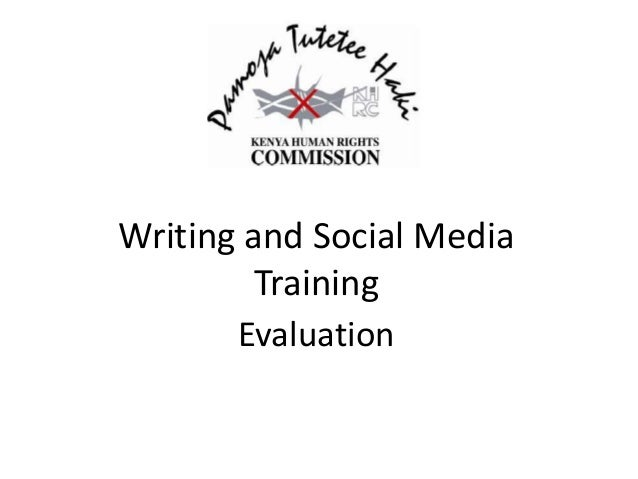 Writing and Social Media Training Evaluation