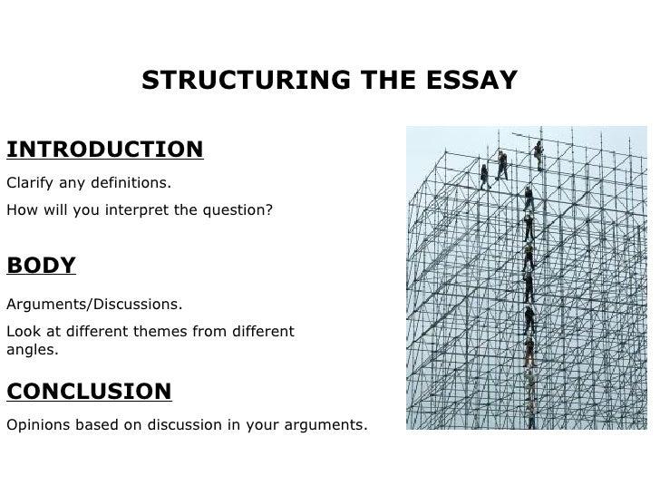 Main components of essay questions