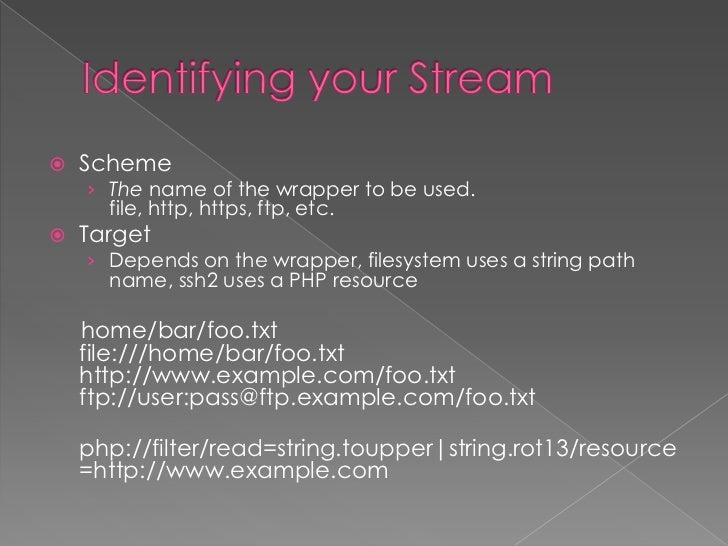  Parameters Options Modify or enhance a stream stream_context_set_param stream_context_set_option stream_context_cre...