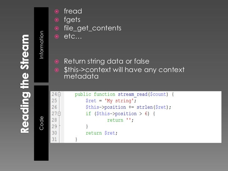    fseek()                 isn't always called – php streams have                  read buffering on by defaultInformati...