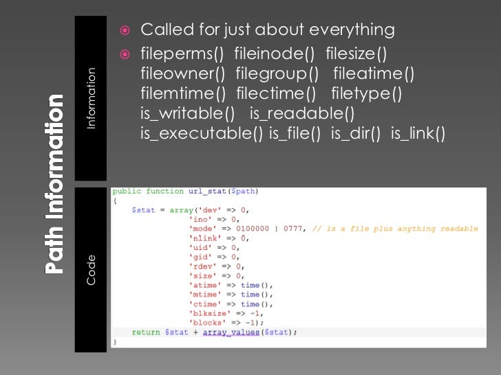    flock()                 file_put_contents() LOCK_EX                  stream_set_blocking()Information               ...
