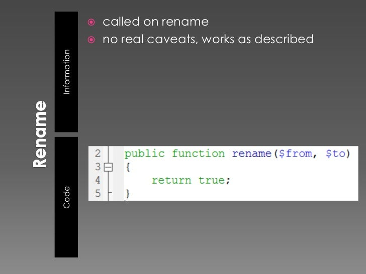    readdir()                 should return a string filename or false                  return value is cast to a string!...