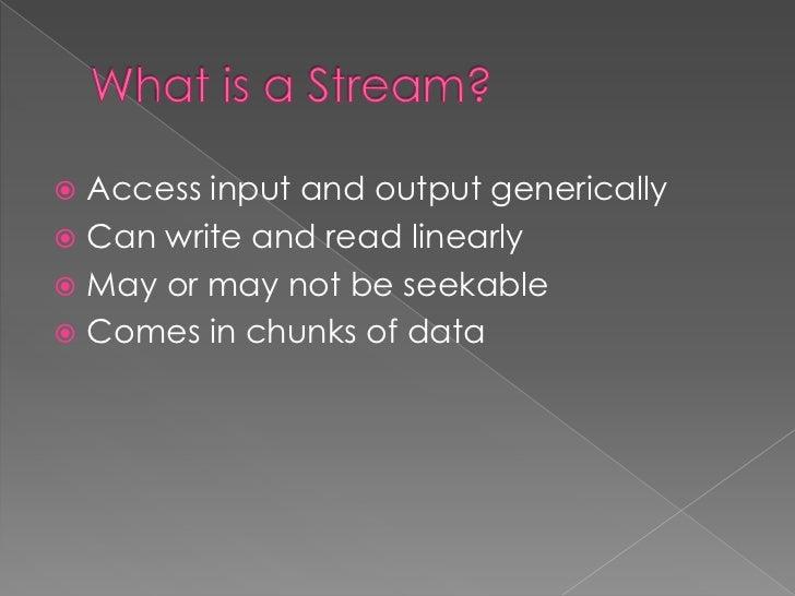 Stream         Contexts             Stream    StreamALL IO              Filter   Wrapper