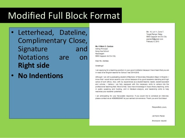 Writing an effective application letter full block format align left no indention 14 spiritdancerdesigns Gallery