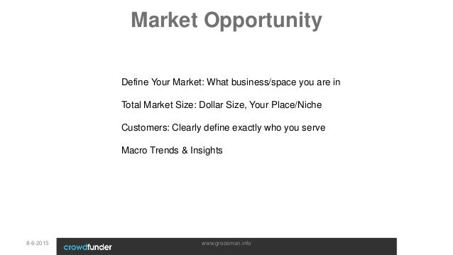 market opportunity business plan