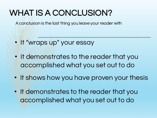 effective conclusions essay