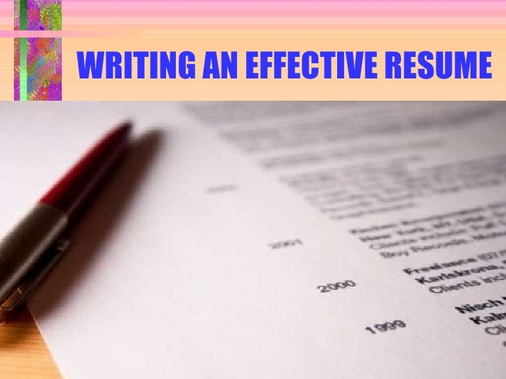 Writing An Effective MBA Resume