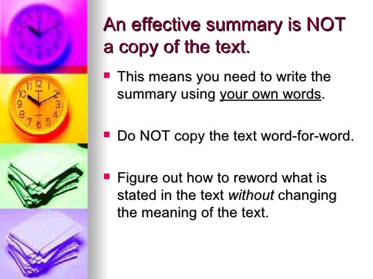how to write a summary At the end of your summary, double-space and write a reference for the in-text citation (see #8 below), following apa guidelines article: in the article.