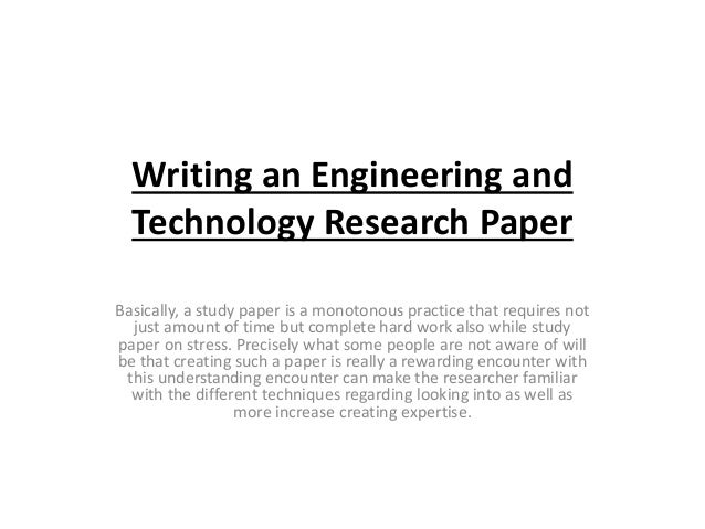Technology term papers
