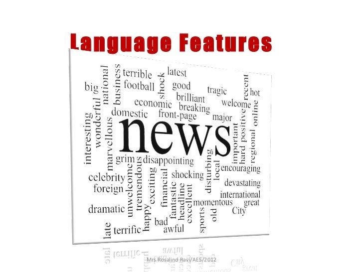 Language Features      Mrs Rosalind Ravi/AES/2012
