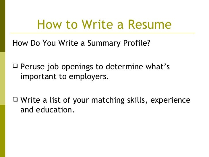 how to write an eye catching resumes