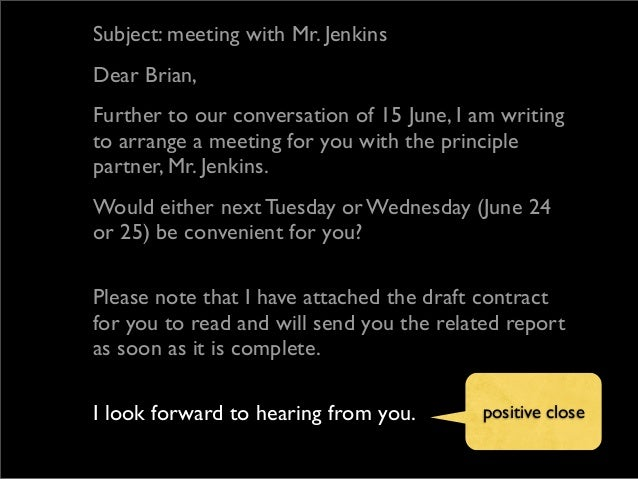 ... Business English Email - Sample Email To Schedule A Business Meeting