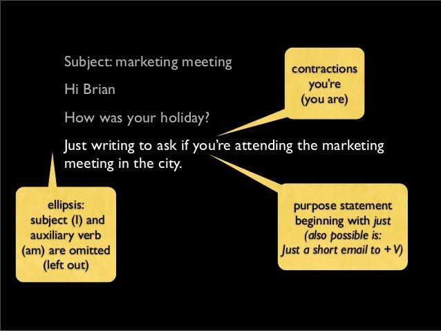 how to write an informal email in english
