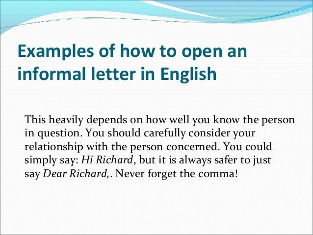 The ultimate informal letter writing guide examples of how to open an informal letter in english expocarfo