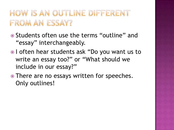 write an outline for an essay