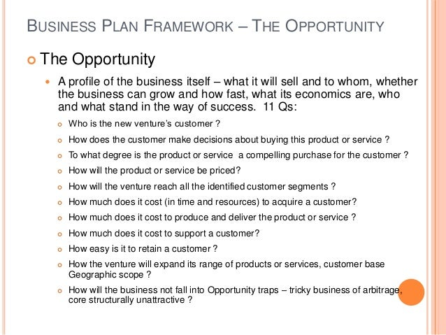 Business plan study
