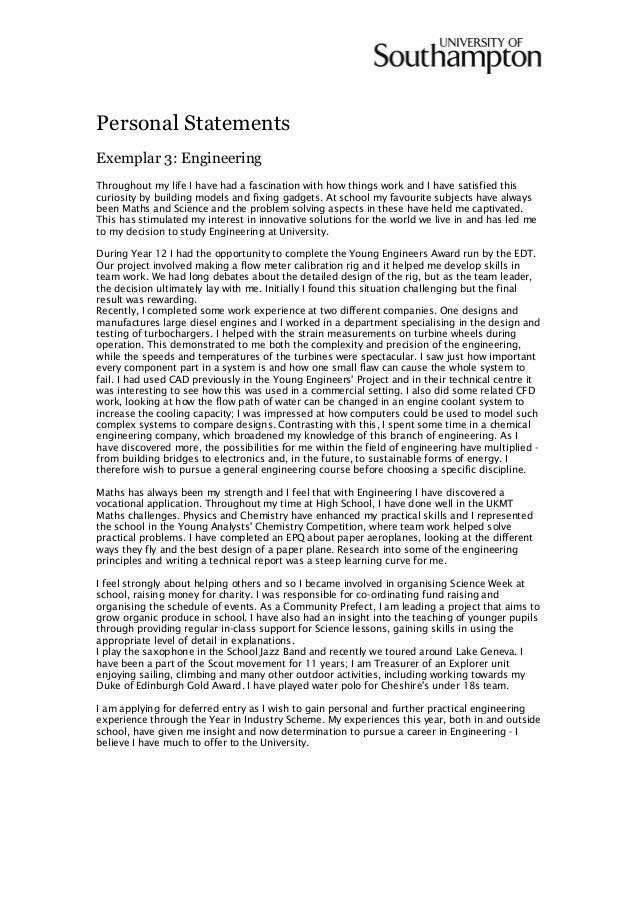 Writing a personal statement guide 2015 by Fred Binley Southampton Uni