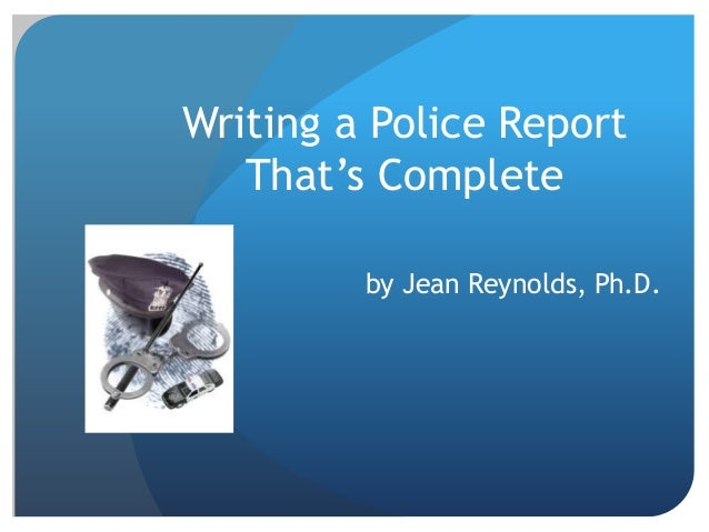 how to find a police report