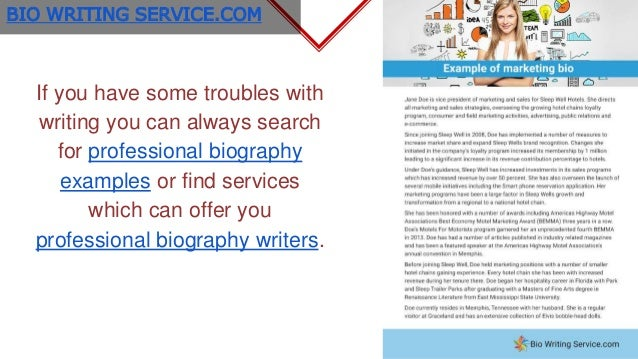 Writing a professional Bio: Best professional Bio Examples