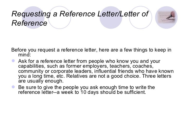 ... 3. Requesting A Reference Letter/Letter ...
