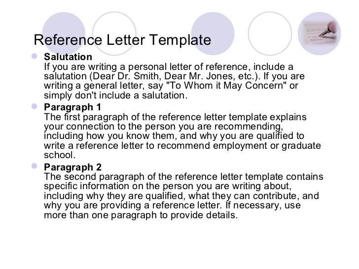 Reference Letter Template ...  How To Write A Personal Reference Letter