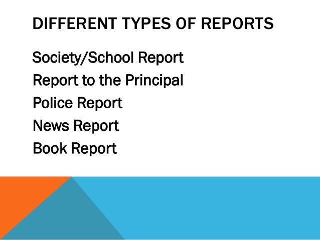 School report writing helper