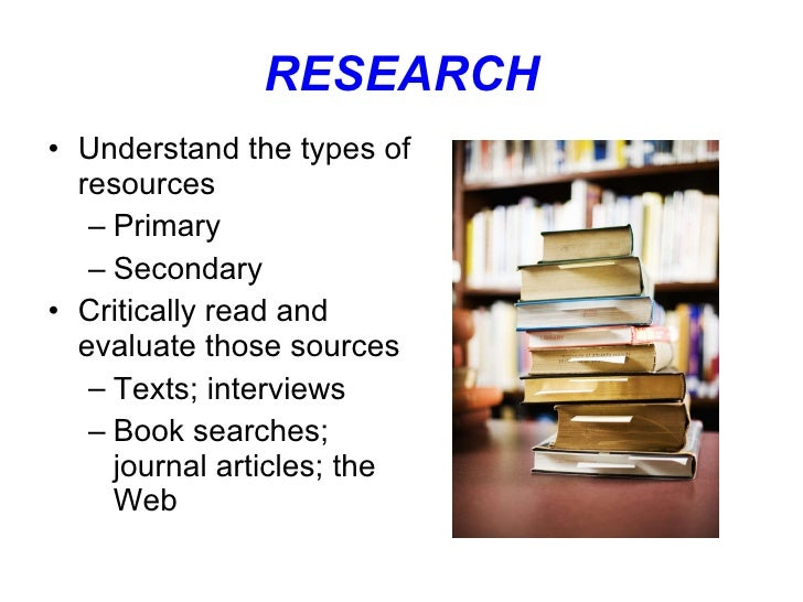 types of resources for a research paper
