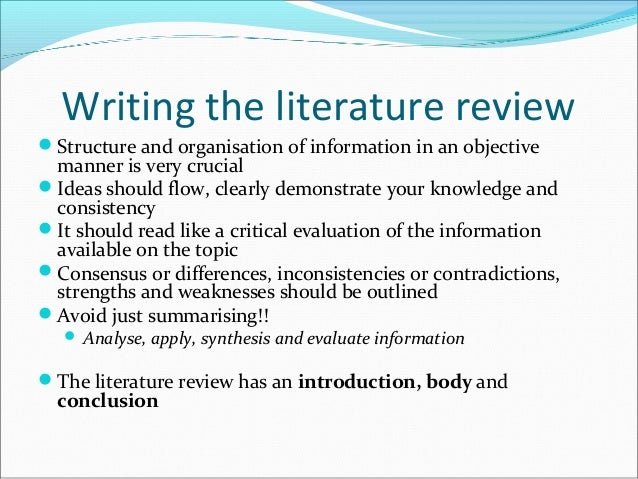 literature review paper structure