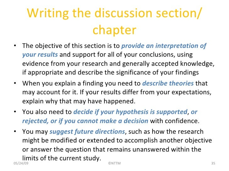 writing a discussion section of thesis topics