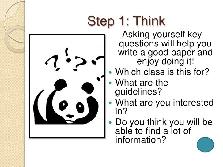 steps to writing research paper