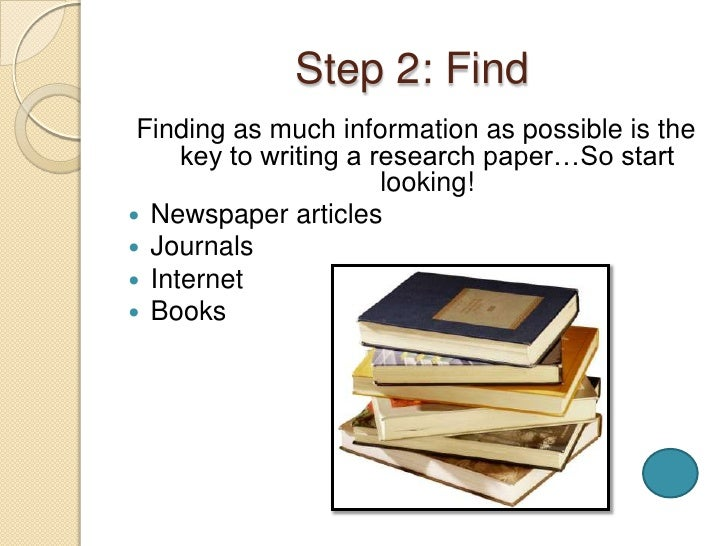 steps doing research paper The process of writing an english research paper (printable version here)1 choosing an area of focus one of the most important steps in the process of writing a research paper for the english discipline is choosing an interesting, engaging topic.