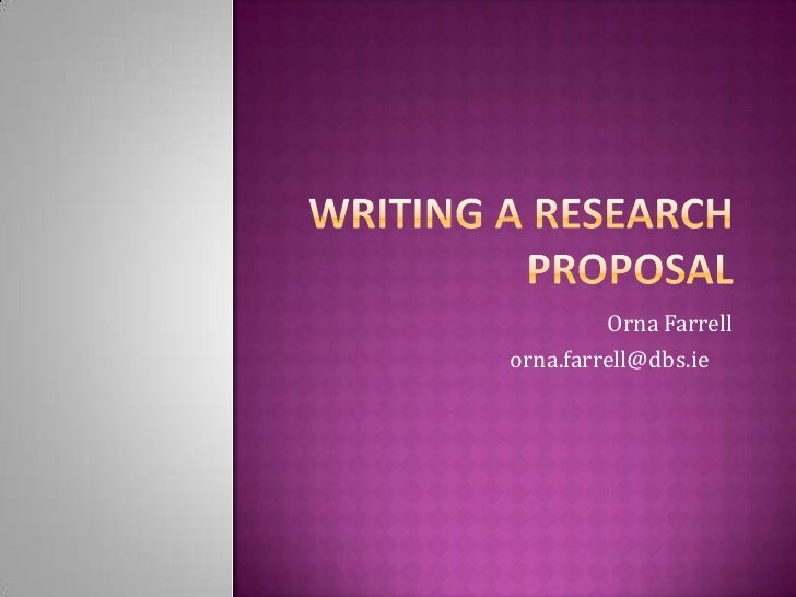 How to write a proposal for educational research
