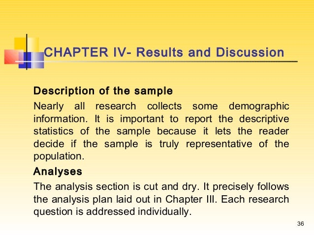 How to write the results and discussion
