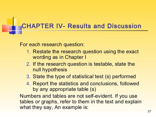 Writing a research report – Sample Research Report