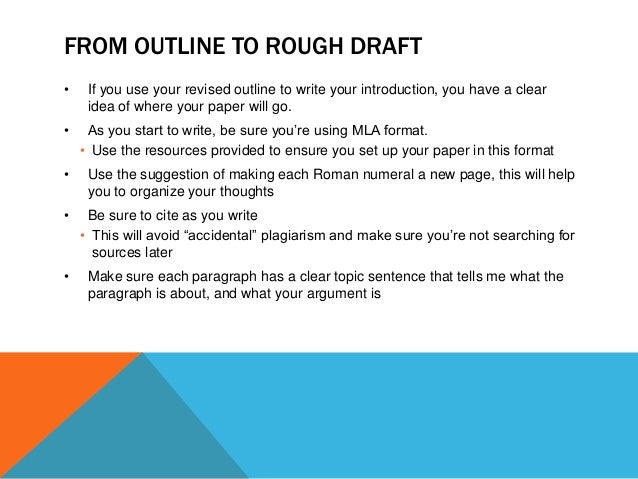 rough draft outline template - writing a rough draft
