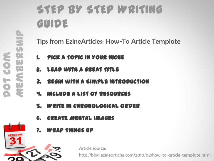 Writing articles the easy way