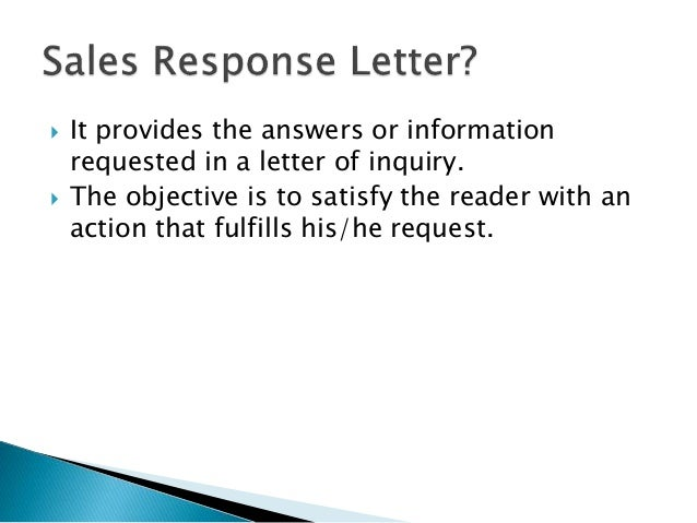 Writing a sales response letter 2 it provides the answers or information requested in a letter of inquiry thecheapjerseys Choice Image