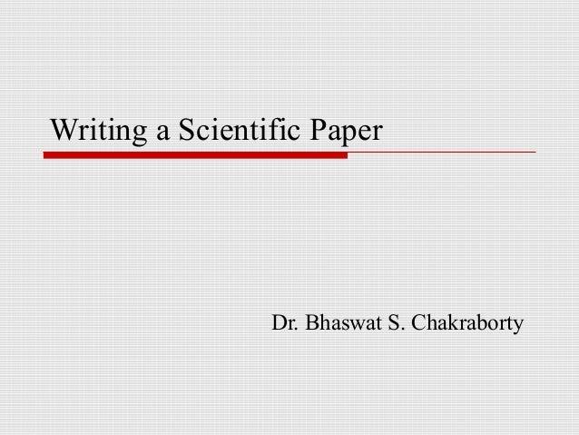 writing a scientific essay