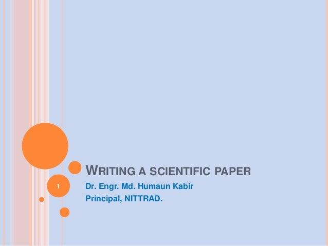 Easy writing scientific paper